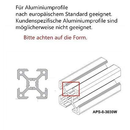 Justech 10pcs 90/° Angle Interne Rainure en T 3030 Joint /à Angle L-Forme en Aluminium Supports de Raccord d/'Angle avec Vis pour Profil/é en Aluminium Rainure de Coin