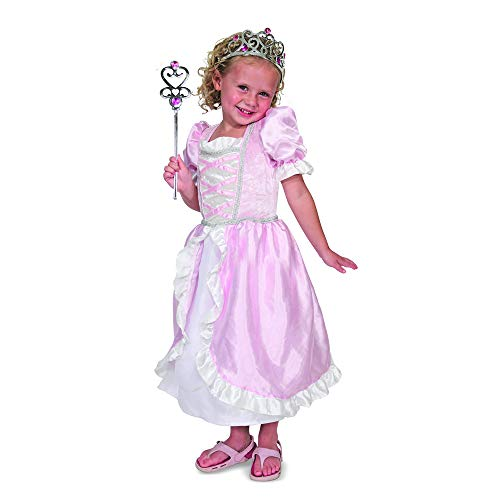 Melissa Doug Girl Dress - Melissa & Doug Princess Role Play Costume Set (3 pcs)- Pink Gown, Tiara, Wand