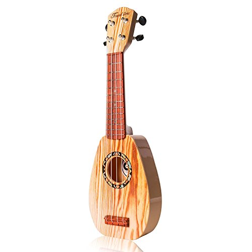 17 Inch Guitar Ukulele Toy For Kids ,Guitar Children Educational Learn Guitar Ukulele With the Picks and Strap Can Play Musical Instruments Toys (17 Inch) - Image 5