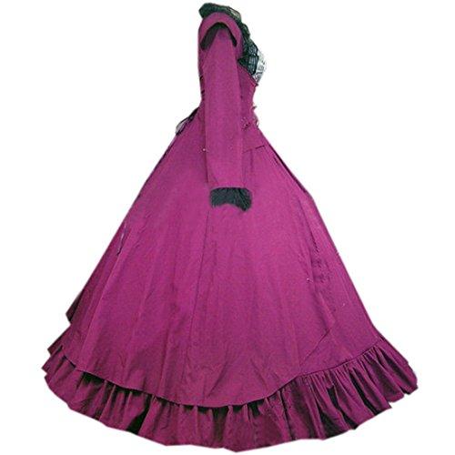 Partiss Damen Viktorianisch Lila Bodenlangen Ballkleid Vintage Gothic rrgwOx0q