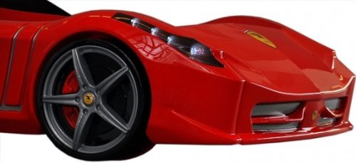 SuperCar Beds F1 Aero Spider in Red Black & White Ferrari Looks + Gadgets (TM) - Black In Ferrari