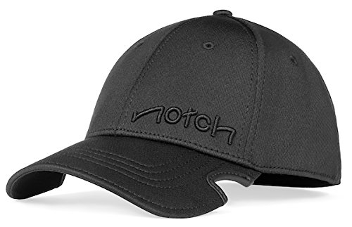 41a3d5e2ded Notch Classic Stretch Fit Black Cap at Amazon Men s Clothing store