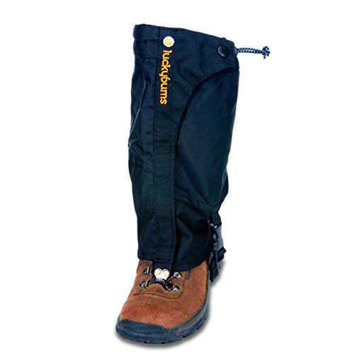 - Lucky Bums Youth Boot Gaiters, Black, Large