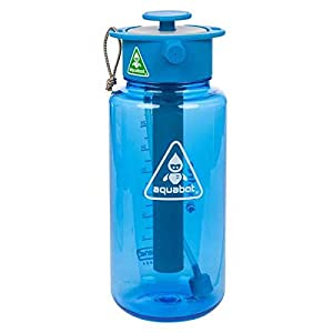 Lunatec Aquabot is a High Pressure Multi-Purpose Water Bottle with a Personal Mister, Shower and Water Gun