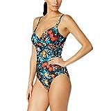 Calvin Klein Exotic Poppy Tummy-Control One-Piece Swimsuit Women's Multi Size 8
