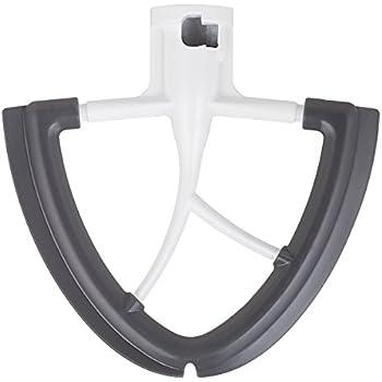 Gvode Flex Edge Beater for KitchenAid Tilt-Head Stand Mixer 4.5 and 5 Quart (White)