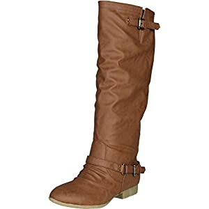 Top Moda Women's COCO 1 Knee High Riding Boot (8, Tan)