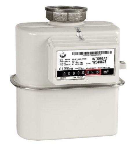 Gasz/ähler G4 Einrohr 1 Rohr bis 6m/³ //h Einstutzen aktuelle Eichung