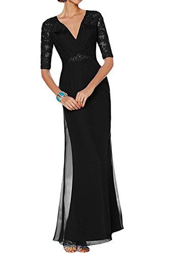 V La ausschnitt Abendkleider Langarm Schwarz Partykleider Etuikleider Damen Lila Brautmutterkleider Marie Dunkel Braut qSSwFXC