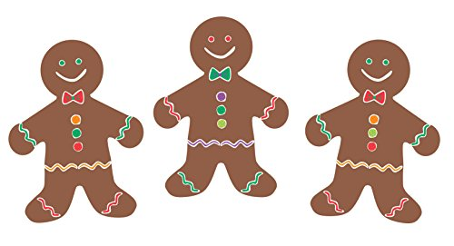 Hygloss Products Gingerbread Men Classroom Accents - Creative Teaching Resources - 7 Inches, 30 Pack]()