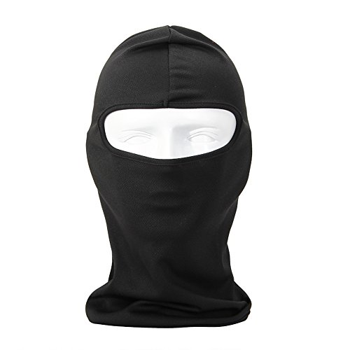 (NewNow Candy Color Ultra Thin Ski Face Mask Great Under A Bike/Football Helmet Balaclava-Black)