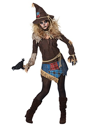 Adult Care Bears Funshine Bear Costumes (Creepy Scarecrow Womens Costume X-Large)