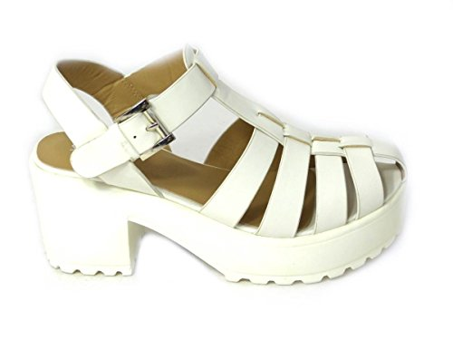 SKO'S pour White Sandales femme 8552 2 wwrOnz5HqF