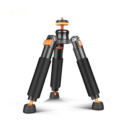 Bestshoot Desktop Mini Tripod Load 3KG Universal 3 Legs Monopod Base Stand Unipod Support for Canon 60D 60D 5D Nikon D90 Sony A58 A7RII DSLR Cameras Video Micro Shooting