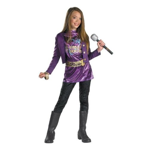 Hannah Montana Purple Rocker Costume Set Child 10-12