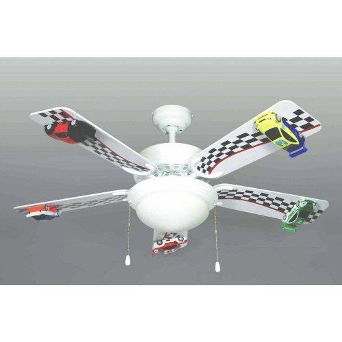 42 race car ceiling fan 5 blade 2 light 3 speed new amazon aloadofball Choice Image