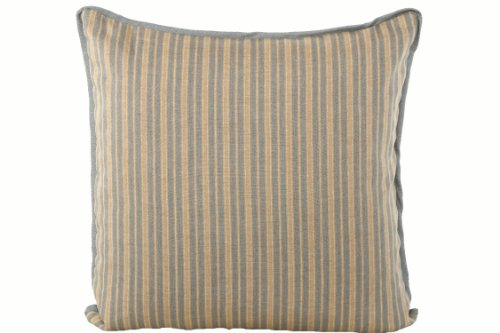 Kathryn Ireland Bradford Italian Stripe Linen 24-Inch Medium Decorative Square Pillow, ()