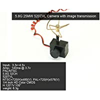 RC 5.8G 25mw Super Mini Light Image Transmission with 520TVL Camera Racing Drone Image Transmission Combo
