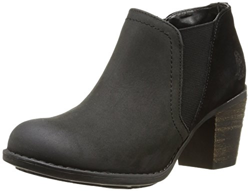 Puppies Botas Moorland black leather Hush Mujer Negro fdqfT