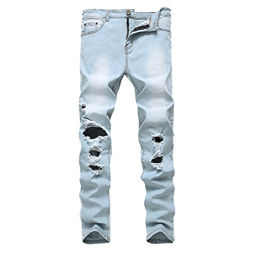 light blue and white joggers - 8