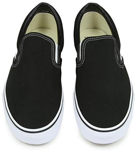 Pictures of Vans Classic Slip-on Skate Shoes - Black VEYECA Black (Canvas) 2