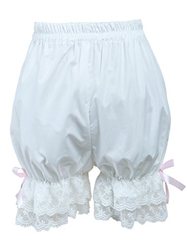 [Hugme Cotton White Lace Bows Lolita Bloomers] (Custom Cosplay Costumes Sale)