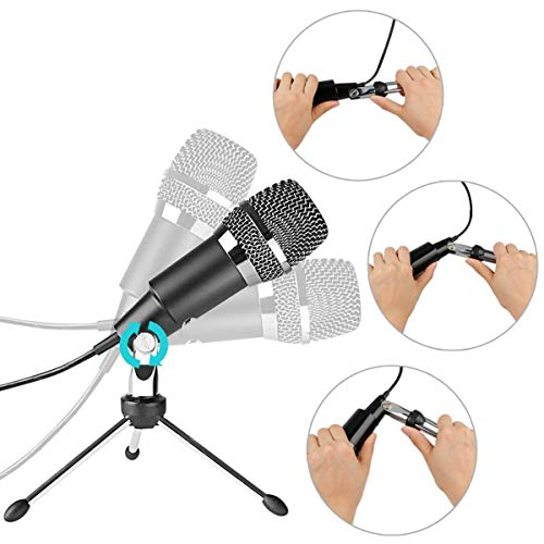 headsets fifine usb microphone plug play home studio usb condenser microphone for skype. Black Bedroom Furniture Sets. Home Design Ideas