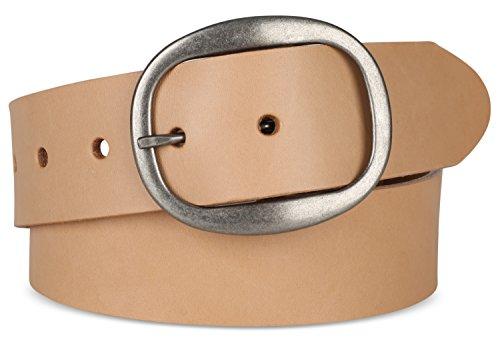 Men's Top Grain Natural Tan Belt,1.5