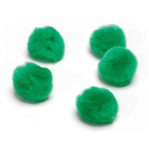Bulk Buy: Darice DIY Crafts Acrylic Pom Poms Kelly Green 1 inch 40 pieces (3-Pack)