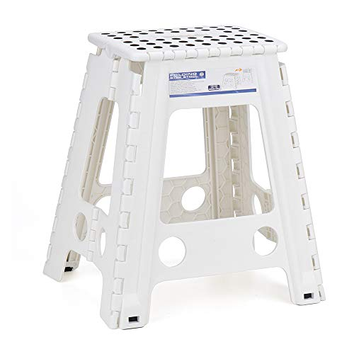 - Acko White 18 Inches Non Slip Folding Step Stool for Kids and Adults with Handle