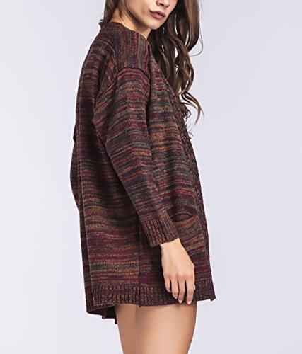 Classica Colore Maglione Moda Casual Maglie Maglia Rosso Cappotti  Abbigliamento Donna Inverno Elegante Ragazza Lana Chic Manica Vintage ... b907360c4c4