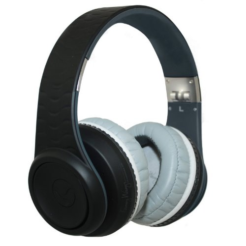 Headphone Blk Canceling Noise (Fanny Wang 3000 Series Over-Ear Wangs Luxury Headphones with Active Noise Canceling and Apple Integrated Remote and Mic - Black (FW-3003-BLK))