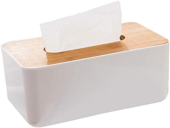 YLING Caja de pañuelos de Madera Cuadrada Sala de Estar Caja de pañuelos de Papel Portador