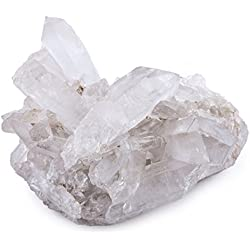 Crystal Allies Specimens: Natural Clear Quartz Crystal Cluster - 1/2lb to 1lbs