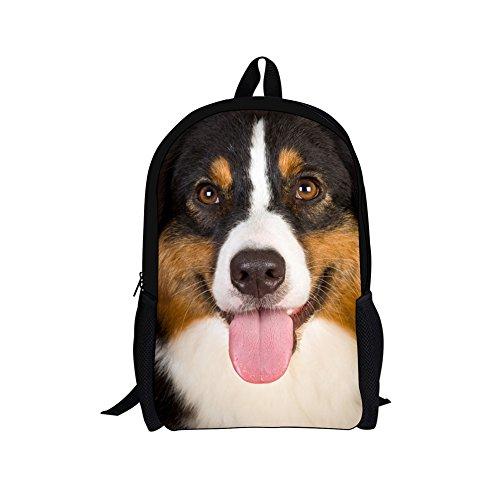 Sannovo Greater Swiss Mountain Dog Printed School Backpacks Book Bag for Boy Girl Gift Supplies