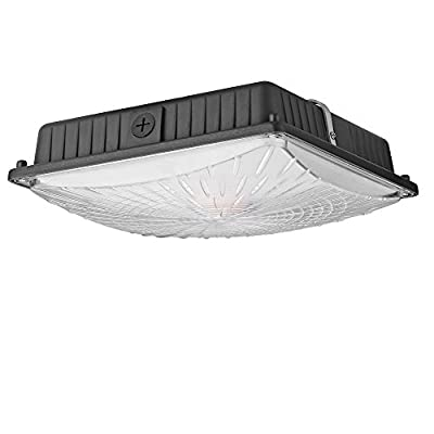 LED Canopy Light, 5400 Lumens,Daylight 5000K, 250W HID Raplacing, AC110-277V, Waterproof IP65, UL DLC Approval, for Industrial Commercial Residential Used
