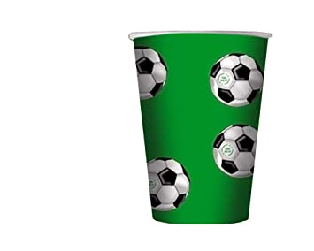 Big Party Vasos Fútbol, Color Verde/Blanco/Negro, 200 ML ...