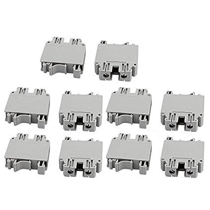 Amazon.com: eDealMax 10Pcs UK35N 800V 150A del montaje del carril 35mm2 Cable Tipo de tornillo del bloque de terminales gris: Electronics