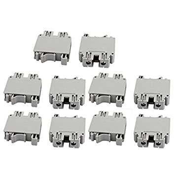 eDealMax 10Pcs UK35N 800V 150A del montaje del carril 35mm2 Cable Tipo de tornillo del bloque