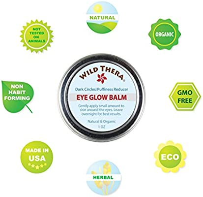 Wild Thera Herbal Eye Gel to detox and reduce puffiness, dark circles, wrinkles, bags & crows feet. Natural Eye Cream Treatment. Use directly or co-therapy with Eye Serum, Vitamin C Serum & Eye Mask.