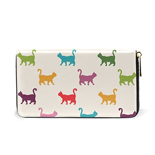 Clutch Womens Wallet Zip Organizer Around 3 Saying Pattern Style Cats Purses Bonjour TIZORAX Handbags And French XxwgY