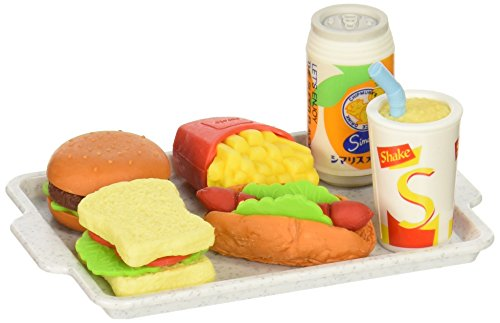 Iwako Japanese Eraser Set - Fast Food -