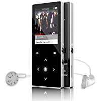 Bluetooth 4.0 MP3 Player, 2018 Latest 8GB Lossless HiFi Sound Audio Music Player with FM Radio/ Voice Recorder, Touch Button, Metal Shell with Headphones (Expandable Up to 64GB)