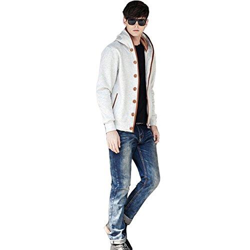 Chiaro Cappuccio Da Felpa Newbestyle Uomo Autumn Grigio 2 Spring Design Con tYqwHCzw