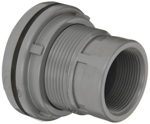 Spears 8172-C Series CPVC Bulkhead Tank Adapter, Schedule 80, Gray, 3/4