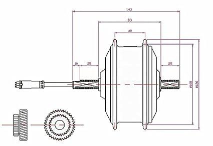 L-faster Bicicleta Plegable eléctrica 36V 250W hub Motor el mas Estrecho hub Motor para Bicicleta electrica Motor en Bloque Motor Ancho AKM Menor Habla: ...