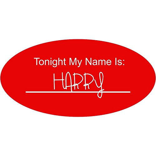 Tonight My Name Is Halloween Costume Name Tag - Funny Halloween -