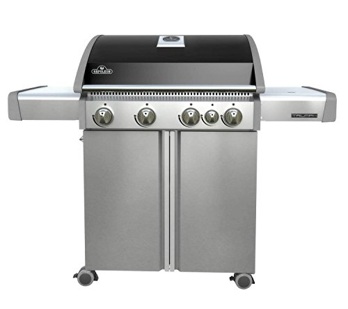 Napoleon T495SBPK Triumph Propane Grill with 4 Burners, Black and Stainless Steel (Range Porcelain Propane)