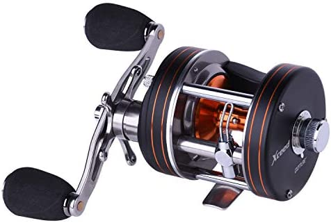 Goture Round Baitcasting Reel Xceed 10 1BB Lightweight Fishing Reel, 5.3 1 Reinforced Metal Body Conventional Saltwater Trolling Reels – Max Drag 18LB