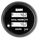 DC Hour Meter, LCD, Round, Resettable